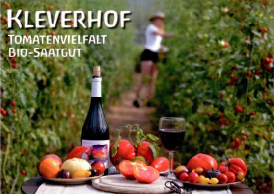 Postkarte Kleverhof Tomatenvielfalt