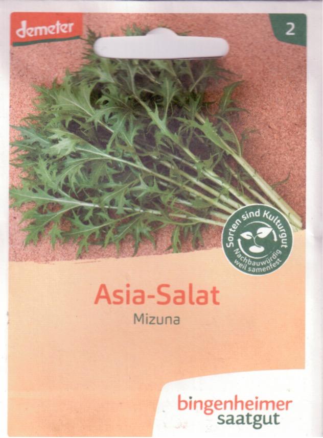 Samentüte Asia salat