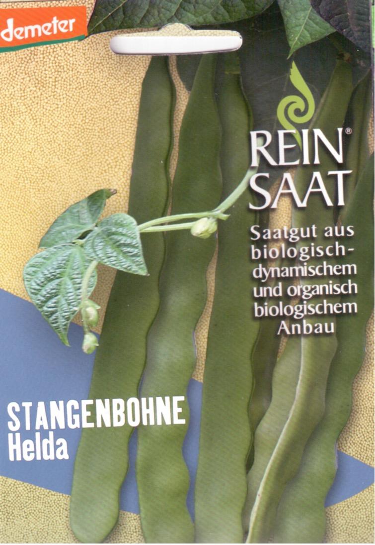 Saatgut Stangenbohne Helda