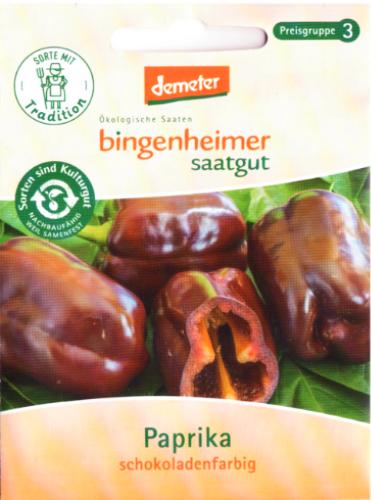 Saatgut Paprika Schokoladenfarbig