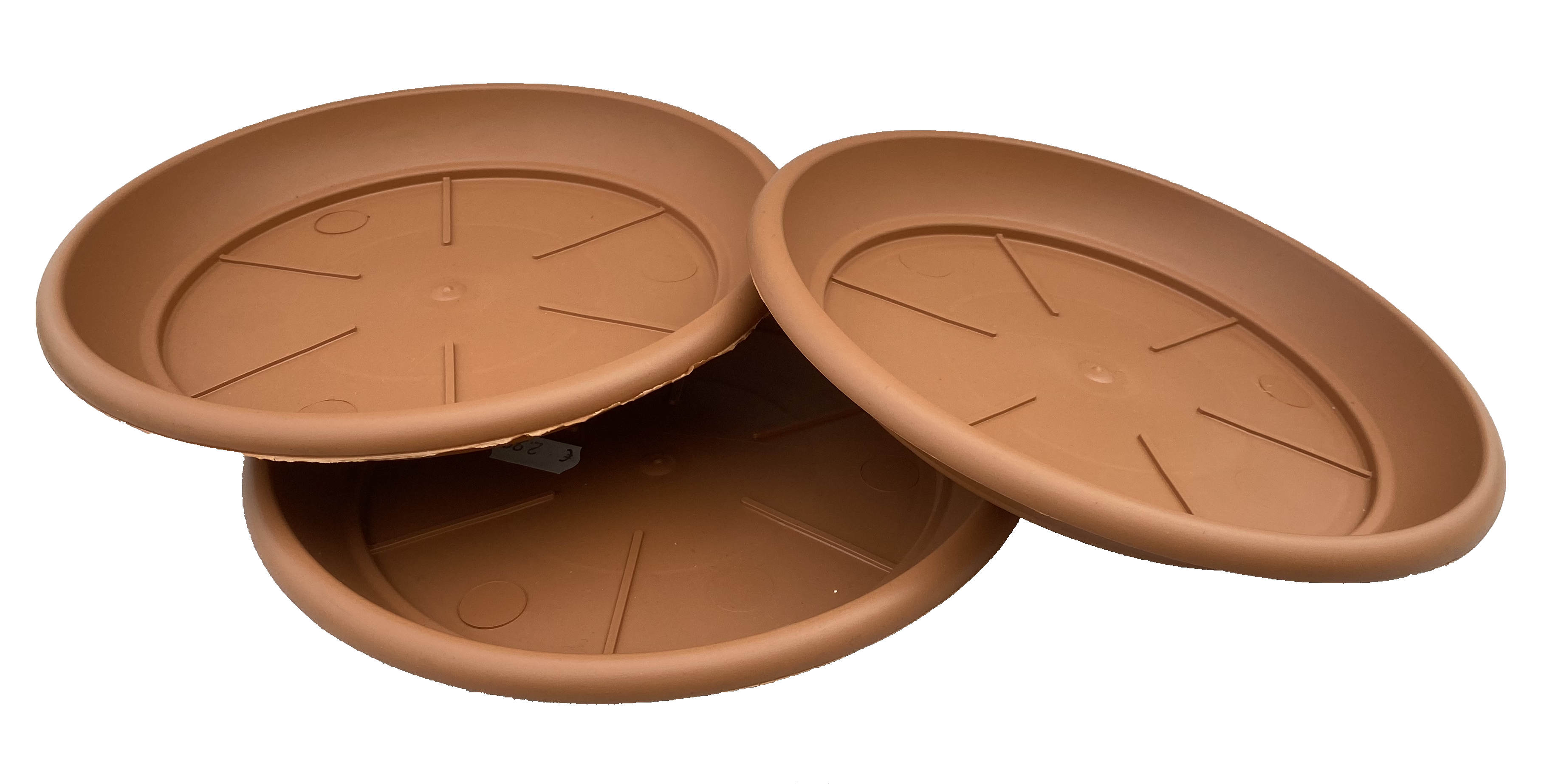 3 x Untersetzer Kunststoff in Terrakotta-Optik klein