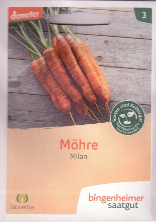 Saatgut Möhre Milan