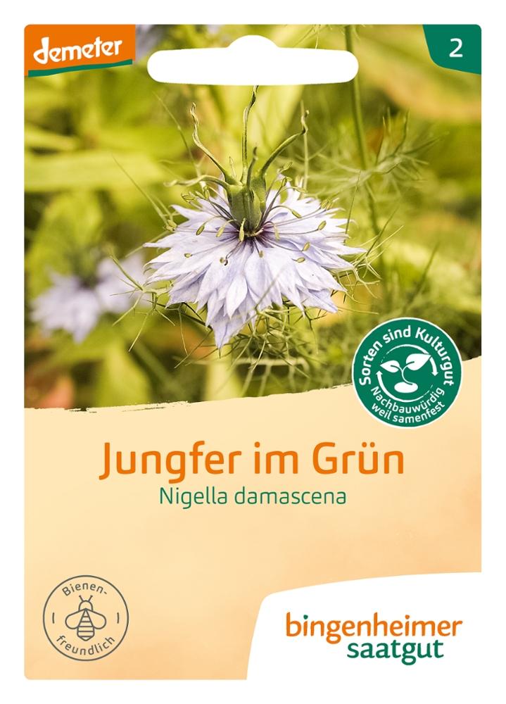 Saatgut Jungfer in Grün -B-