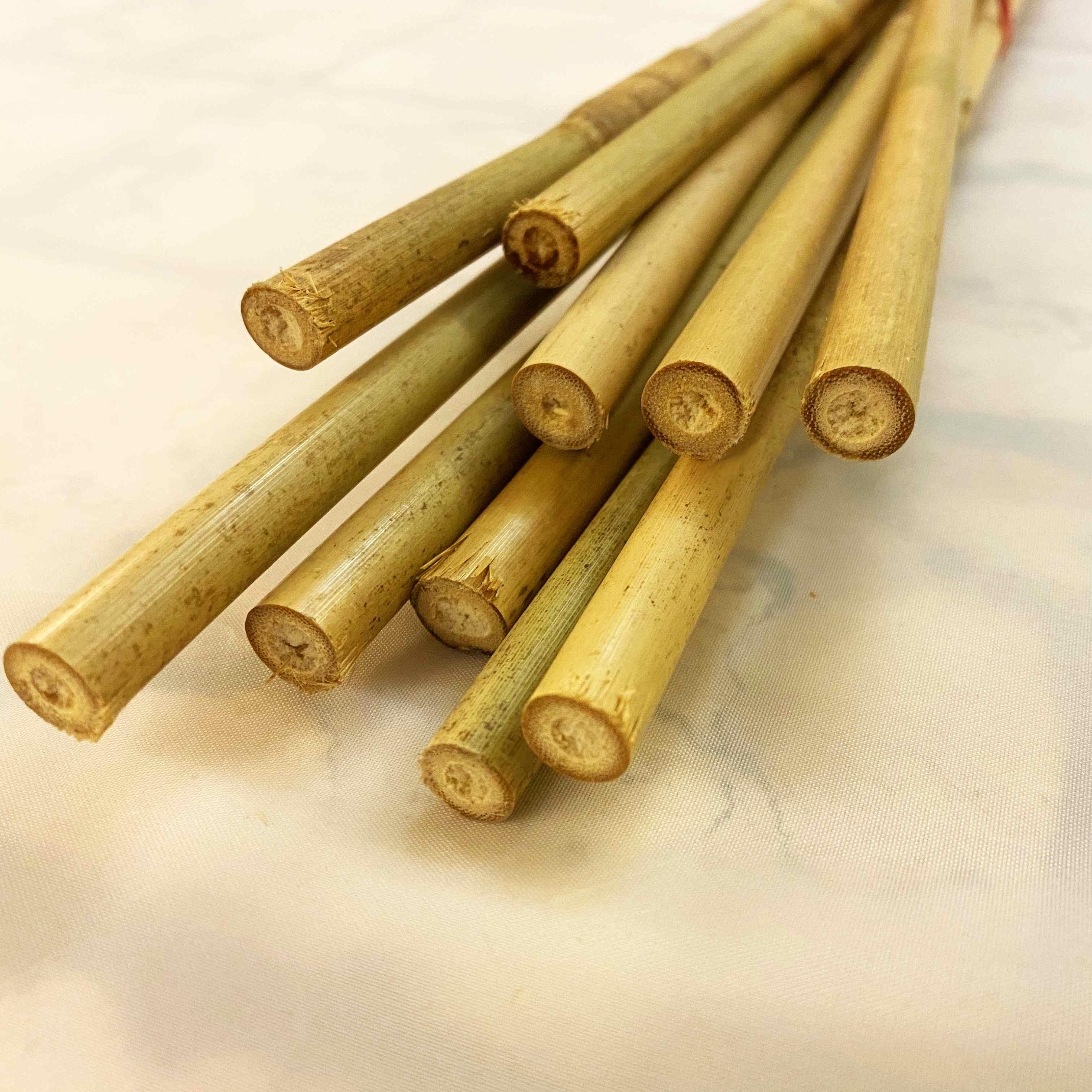 10 x Bambus- oder Tonkinstäbe 1m