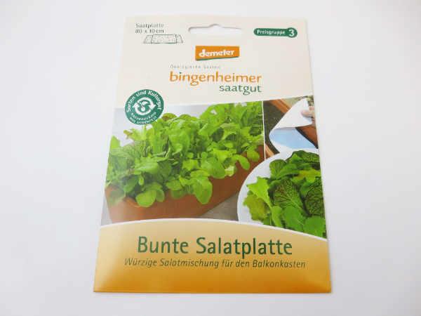 Saatgut Bunte Salatplatte Saatplatte