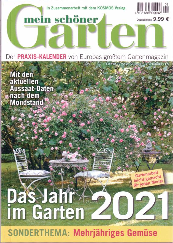 Zeitschrift Praxis Kalender Mein schöner Garten 2021