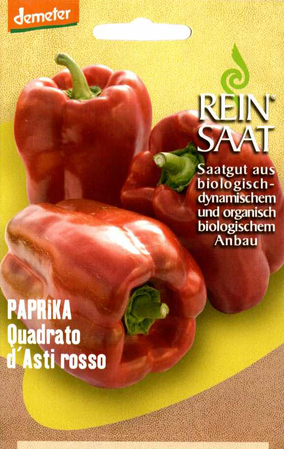 Saatgut Paprika Quadrato d'Asti Rosso -R-