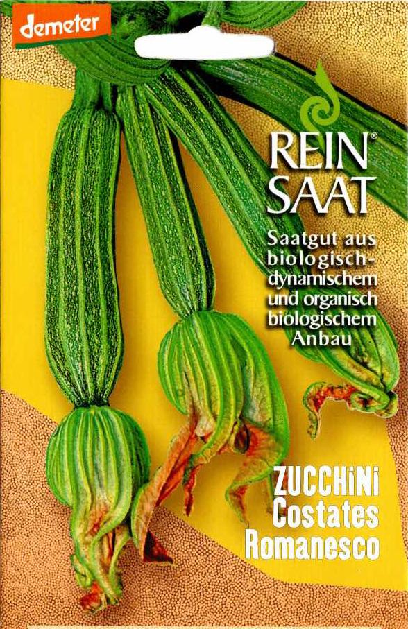 Saatgut Zucchini Costates Romanesco -R-