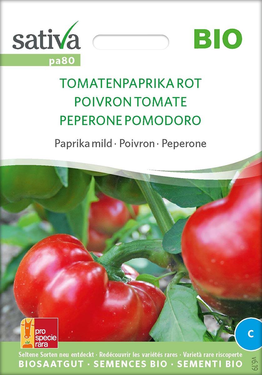 Saatgut Tomatenpaprika Rot -S-